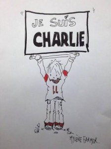 Je suis Charlie, par Mylène Farmer, #JeSuisCharlie